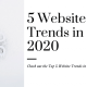 5 Website Trends in 2020