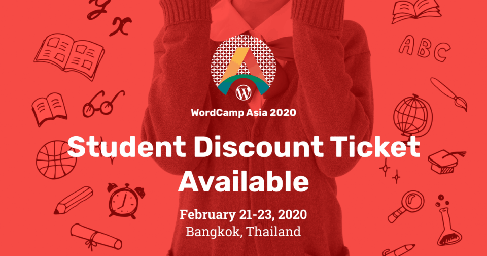 WordCamp Asia 2020 - Student Discount