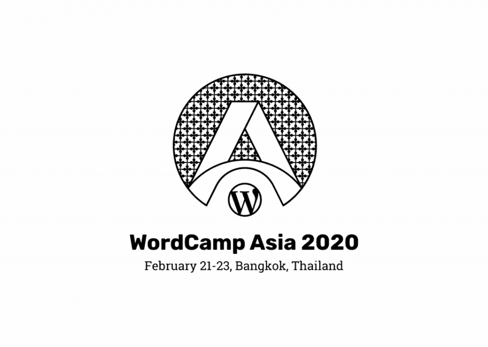 WordCamp Asia 2020 Black and White